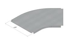Крышка секции угловой плоской 45° (SPL.K.YP.)