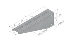 Консоли горизонтальные SSN.KGO для средних нагрузок