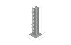 Стойка универсальная пол/потолок STN.2K235 двойная для тяжелых нагрузок