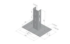 Подвес универсальный пол/потолок STN.KPU для тяжёлых нагрузок