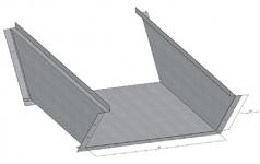 ККБ одноканальный угловой плоский с поворотом вниз на 45°