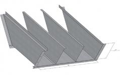 ККБ трехканальный угловой плоский с поворотом вниз на 45°