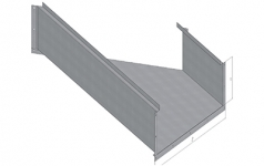 ККБ одноканальный угловой горизонтальный плоский 45°