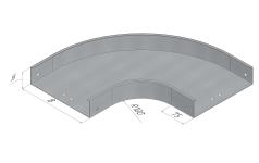 Лоток секции угловой плоской 90° (SPL.L.UP.)